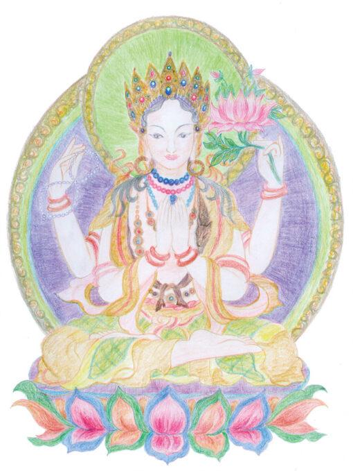 Painting of Avalokiteshvara by Noriko Moonbird
