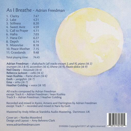 Album As I Breathe Back Cover