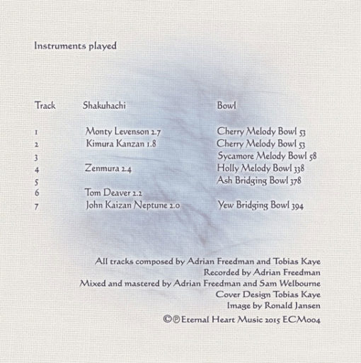 Album Wind In The Branches Back Cover
