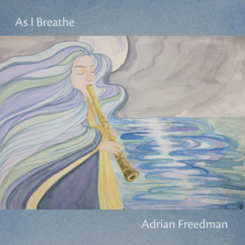 Shakuhachi Album As I Breathe Front Cover listen|Album As I Breathe Back Cover|Album As I Breathe MoonPainting Original Artwork by Noriko Moonbird Features|Flute Player paiting by Noriko Moonbird Projects