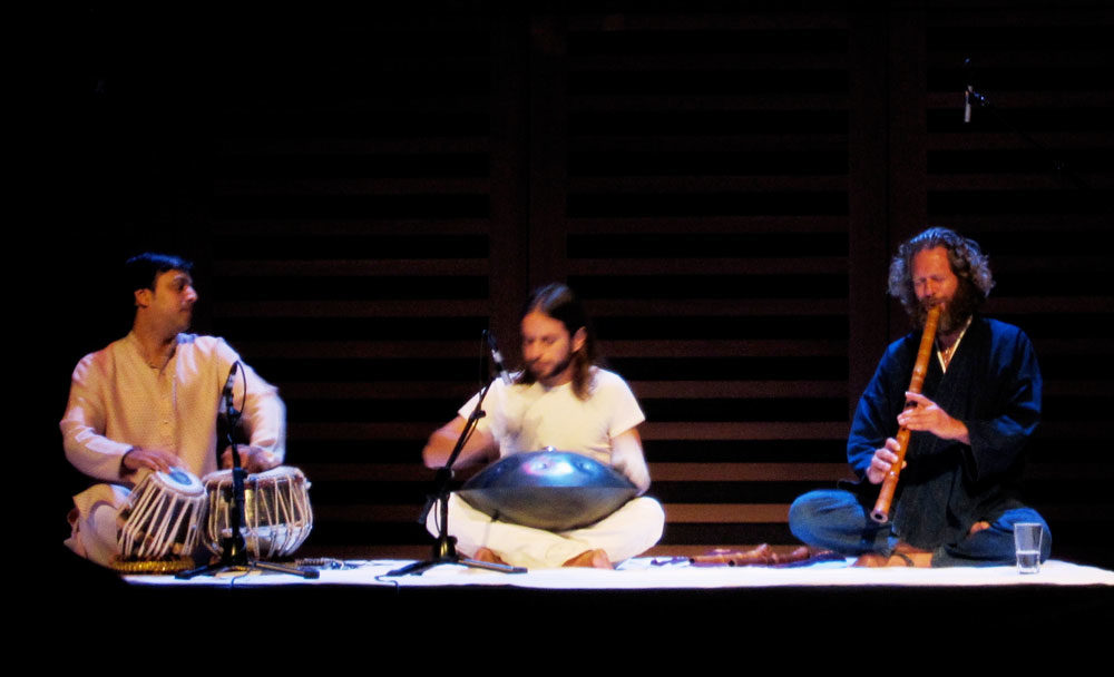 Adrian Freedman with Sanju Sahay and Ravid Goldschmidt at kings Place Hall