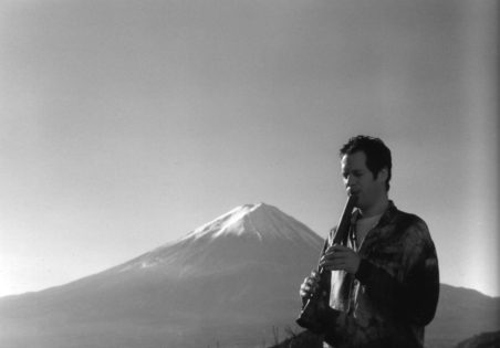 AdrianFreedman plays healing shakuhachi at Mt. Fuji