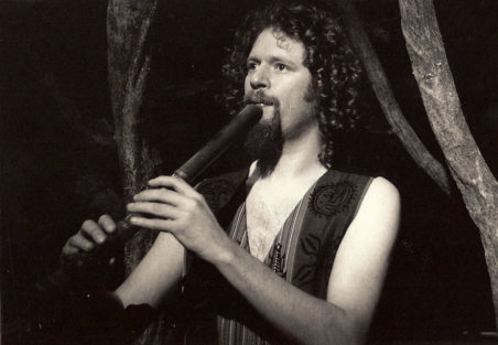 Adrian Freedman playing shakuhachi in The Dream of Odin