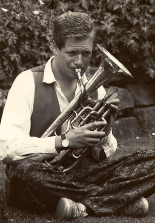Adrian Freedman playing the Tenor Horn