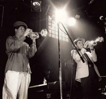 Adrian Freedman plays trumpet woth Christopher Fryman
