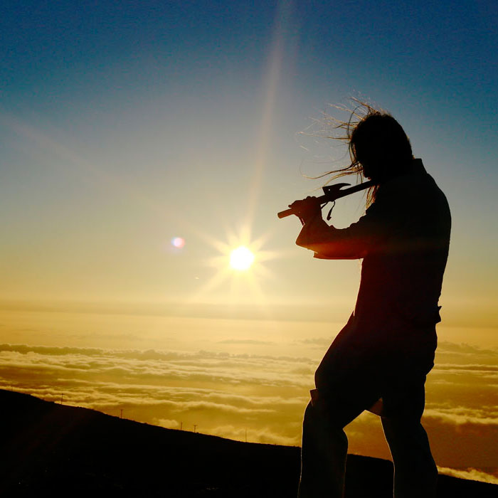 Hiroki Okano, Silhouette. Image Supplied by the musician Projects
