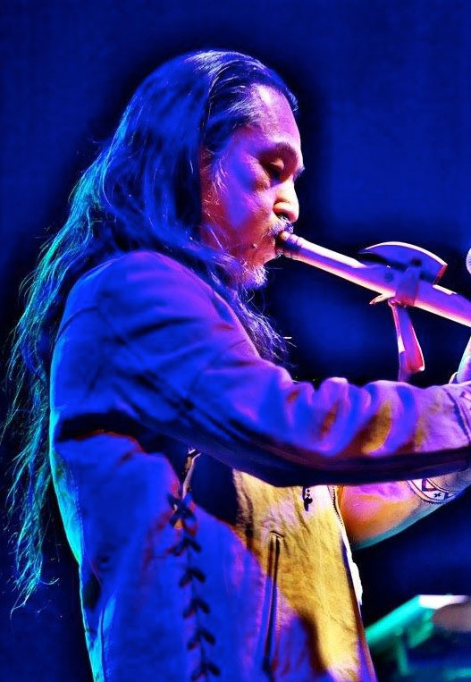 Hiroki Okano, Native American Indian flute. Image Supplied by the musician