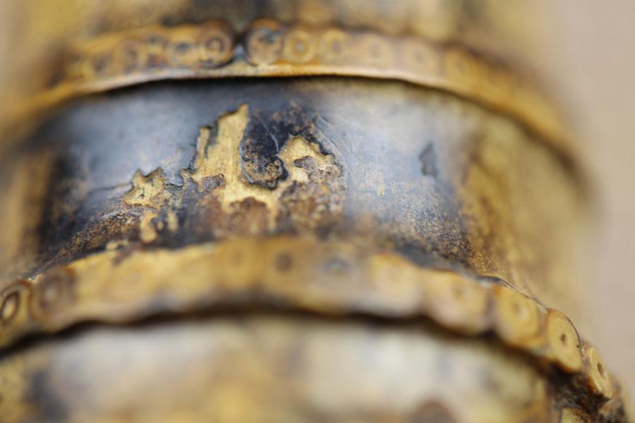 Miura 1.8 shakuhachi bell detail. Photo: Adrian Freedman