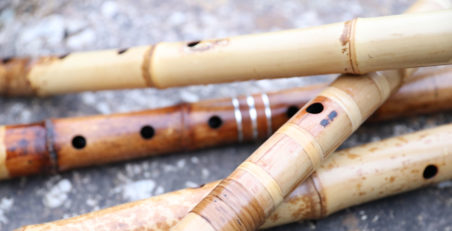 Assorted shakuhachi midsection cluster. Photo: Adrian Freedman Feature Japanese Flute