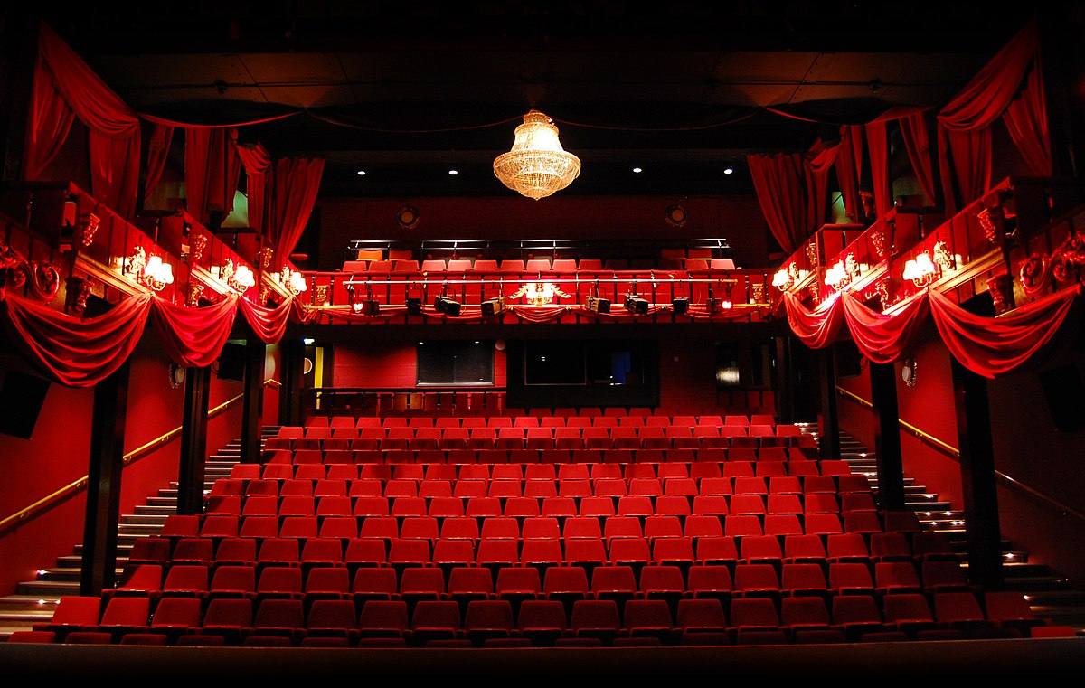 Red seated theatre The Malting