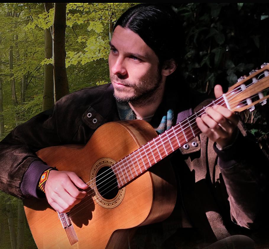 Man playing guitar Michael Stanton