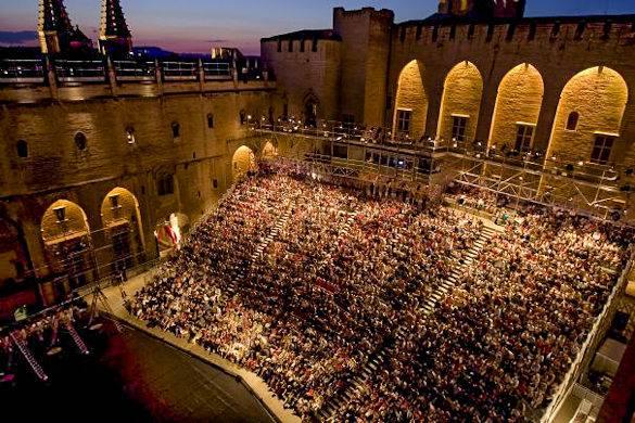 Big audience outdoor theatre