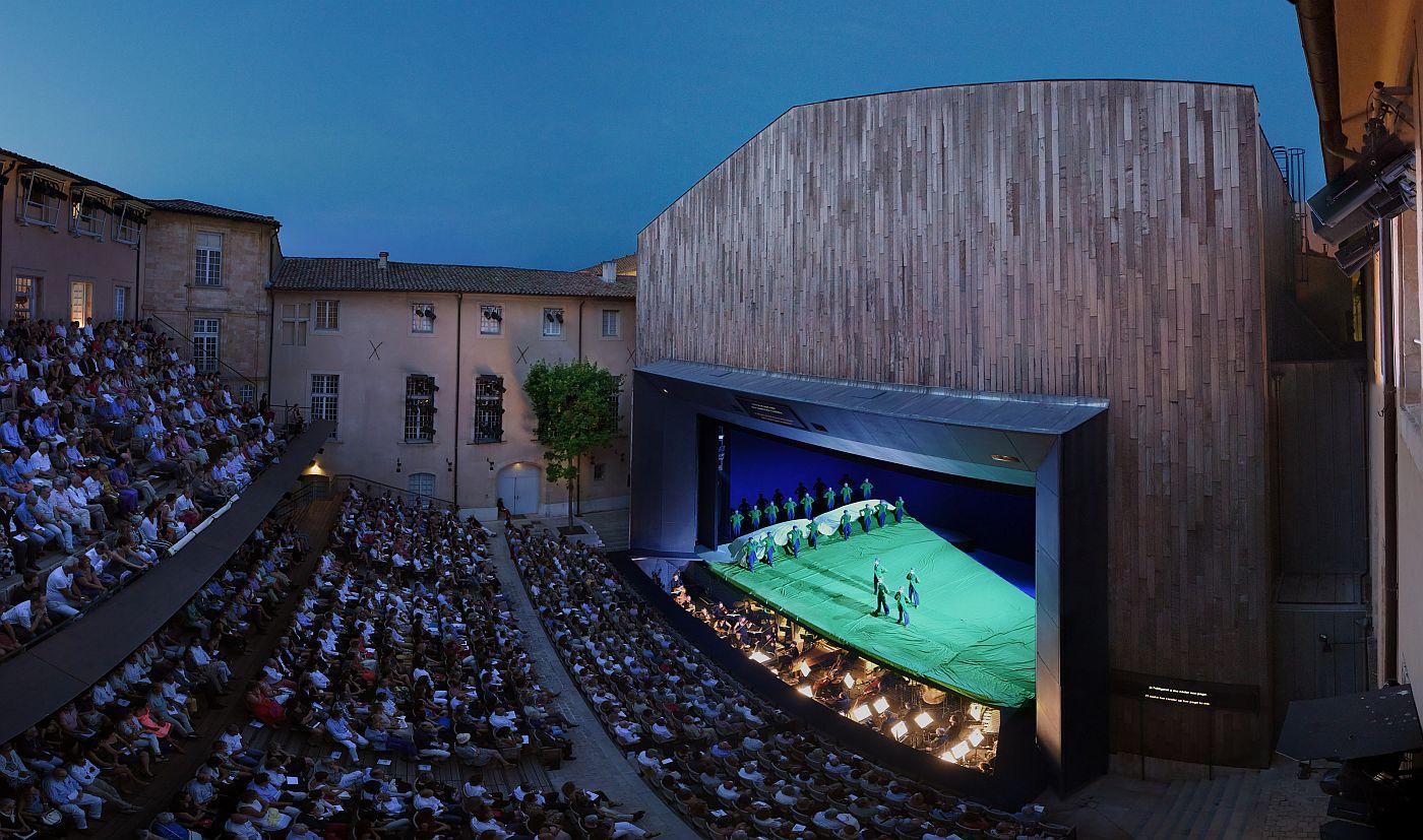Open air theatre evening