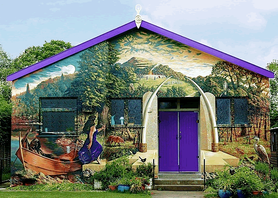 goddess paint outside house