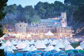 Tipee tents in front of Castle