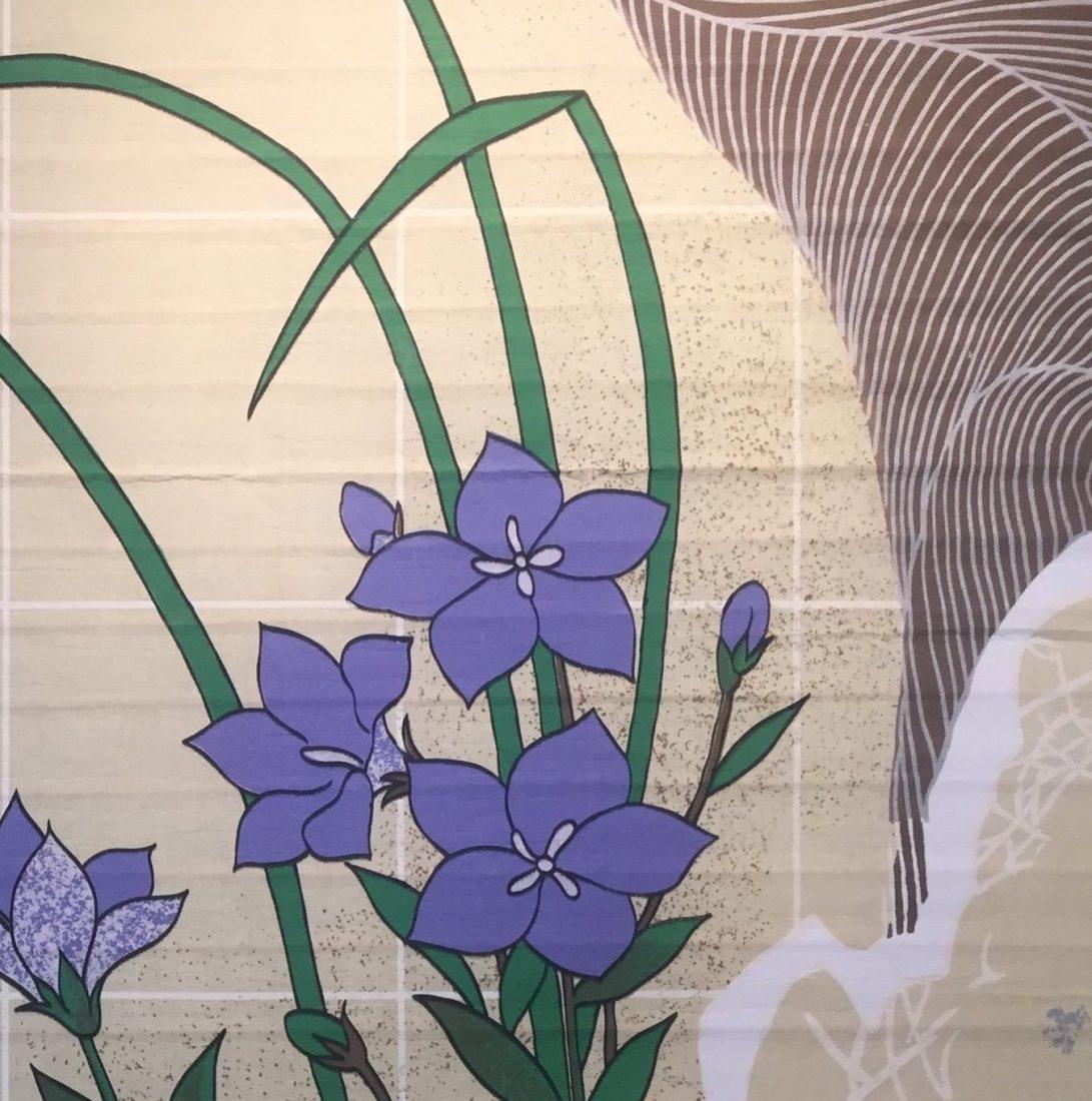 Purple flowers Japanese art